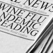 Swine Flu Pandemic Spreading — Stock Photo