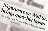 Manchetes de recessão económica num jornal diário desconhecido — Foto Stock
