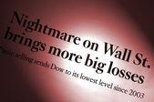 Nightmare on Wall Street — Stock Photo