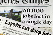 Sixty Thousand Jobs Lost in a single day — Stock Photo