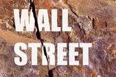 Wall Street broken — Stock Photo