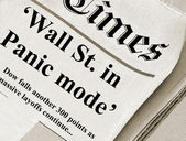 The Wall St. in panic mode — Stock Photo