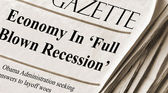 Economy falls into recession — Stock Photo