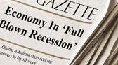 Economy falls into recession — Stock Photo