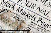 Stock Market Panics — Stock Photo