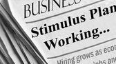 Economic Stimulus Working — Stock Photo