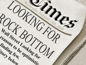 Looking for rock bottom — Stock Photo