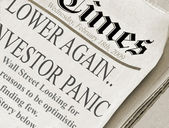 Lower Again Investor Panic — Stock Photo