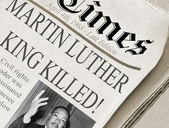 Martin Luther King Killed — Stock Photo
