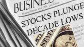 Dow Plunges below 7500 — Stock Photo