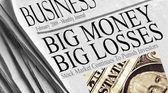 Big Money Big Losses — Stock Photo