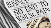 No End To Wall St. Pain — Stock Photo