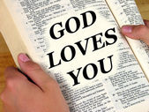 God Loves You — Stock Photo