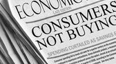 Consumers Not Buying - newspaper headlines. — Stock Photo