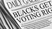 Blacks (and all races) getting voting rights — Stock Photo