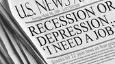 Recesja czy depresja...potrzebuję pracy — Zdjęcie stockowe