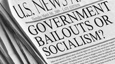 Government Bailouts or Socialism? — Stock Photo