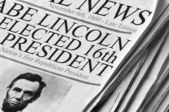 Abe Lincoln Elected 16th US President — Stock Photo