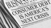 Consumer Dept is America's Next Crisis — Stock Photo