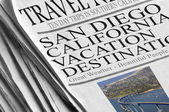 San Diego Chargers Playoff Caliber - Newspaper headlines — Stock Photo