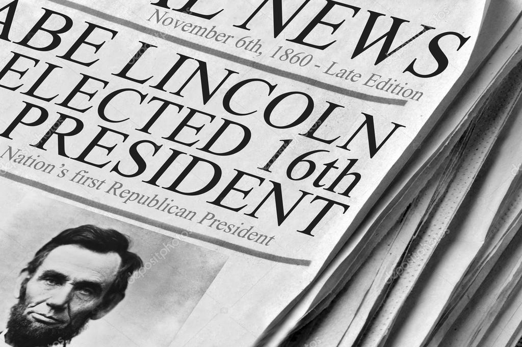 Abe Lincoln Elected 16th Us President Stock Photo