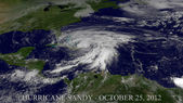 Hurricane Sandy — Stock Photo