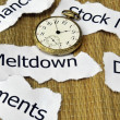 Stock market and Meltdown — Stock Photo
