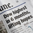 Dow highest in 6 months — Stock Photo #14396849