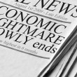 Positive Newspaper headlines — Stock Photo