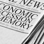 Positive Newspaper headlines — Stock Photo