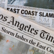 Hurricane Sandy Headlines — Stock Photo