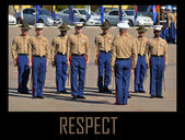 Standing At Attention - US Marines at a ceremony — Stock Photo