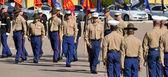 US Marines at a graduation ceremony — Stock Photo