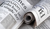 Business Section of newspaper — Stock Photo