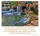 Proverbs 3:19-20 — Stock Photo