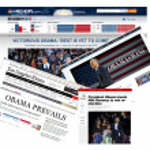 Barack Obama Wins 2nd Term as U.S. President — Stock Photo
