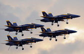 Blue Angels in Dirty Formation — Stock Photo