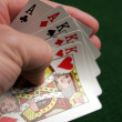 Revealing part of a good poker hand — Stok fotoğraf