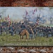Постер, плакат: American Civil War Battle