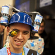 Stock Photo: SAN DIEGO, CALIFORNI- JULY 13: Participant Austin Kruck dresses in costume while at Comicon in Convention Center on July 13, 2012 in SDiego, California.