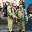 Stock Photo: SAN DIEGO, CALIFORNI- JULY 13: Participants Dave and Jeff Teel dress as Ghostbusters while at Comicon in Convention Center on July 13, 2012 in SDiego, California.