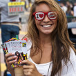 Stock Photo: SAN DIEGO, CALIFORNI- JULY 13: Participant Jasmin Cibelin on streets while at Comicon in Convention Center on July 13, 2012 in SDiego, California.
