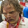 Stock Photo: SAN DIEGO, CALIFORNI- JULY 13: Participant Jeff Barkley dresses as Walking Dead while at Comicon in Convention Center on July 13, 2012 in SDiego, California.