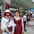 Stock Photo: SAN DIEGO, CALIFORNI- JULY 13: Participants Sam Cannon and Christine Riverin costume while at Comicon in Convention Center on July 13, 2012 in SDiego, California.