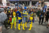 SAN DIEGO, CALIFORNIA - JULY 13: Several participants in costume while at Comicon in the Convention Center on July 13, 2012 in San Diego, California. — Stock Photo