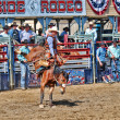 Cowboys participate in a Rodeo — Stock Photo