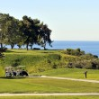 Torrey Pines Golf Course - perched on bluffs above the Pacific Ocean in San Diego, California - Stock Photo