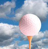 Golfball Ready For Launch — Stock Photo