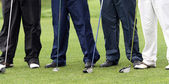 Time To Play Golf -four gentlement golfers — Stock Photo