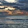 Inspirational Ocean - Genesis 1:2 — Stock Photo